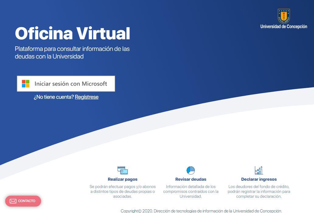 Pantalla de acceso a Oficina Virtual