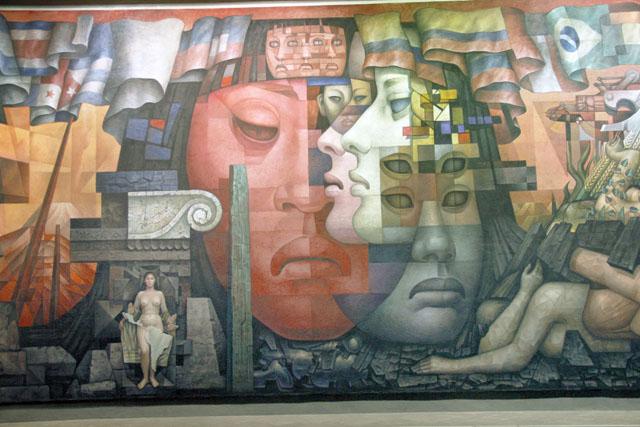 Mural presencia de am rica latina cumpli 50 a os for Arte mural en mexico