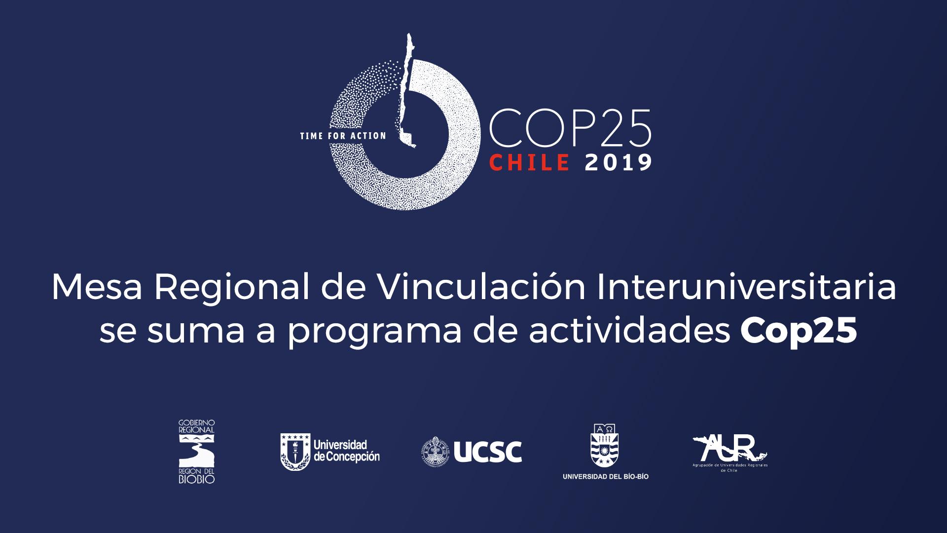 Programación: Gore y Mesa Interuniversitaria llevarán seminarios COP25 a provincias del Biobío