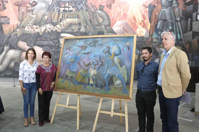 Pinacoteca integra última obra de pintor y muralista Gregorio de la Fuente a sus colecciones