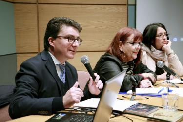 Agregada de Cooperación Universitaria y Científica del Instituto Francés de Chile participó en reunión de trabajo en la Dirección de Relaciones Internacionales